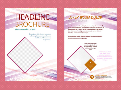 headline brochure vector design with abstract bright background