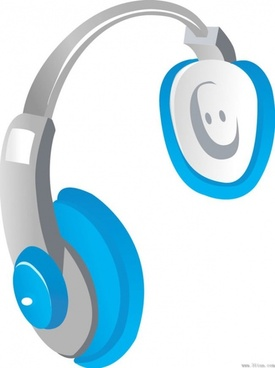 headsets headphones vector