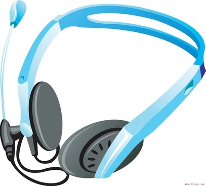 headsets vector
