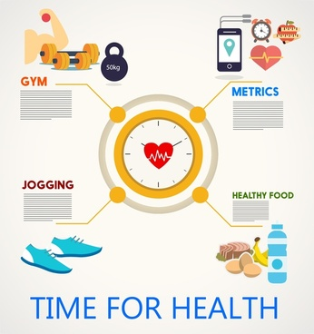 health concepts design with infographic illustration