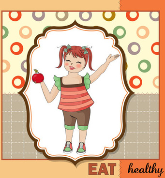 healthy baby cards vector