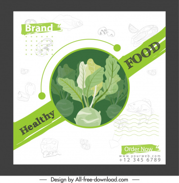healthy food banner chayote sketch classical design