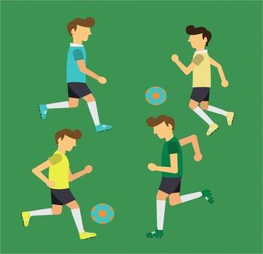 healthy lifestyle theme men playing football design