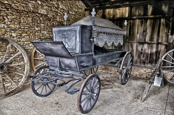 hearse horse drawn antique