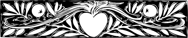 Heart And Branches Border clip art