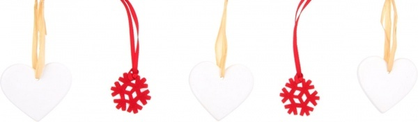 heart and snowflake decoration