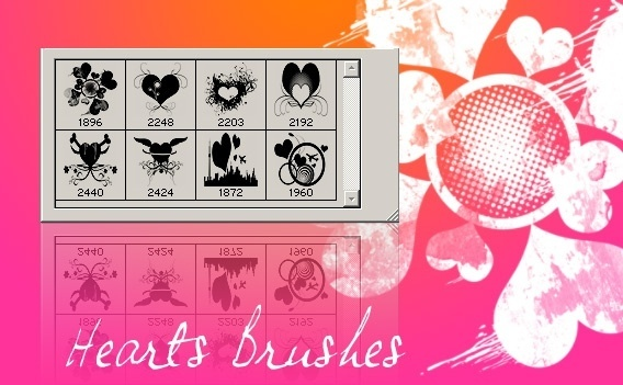 Heart Brushes Pack 3