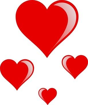 Heart Cluster clip art
