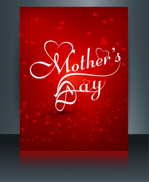 heart concept mothers day reflection text card brochure colorful vector illustration