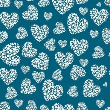 heart decor background repeating flat design