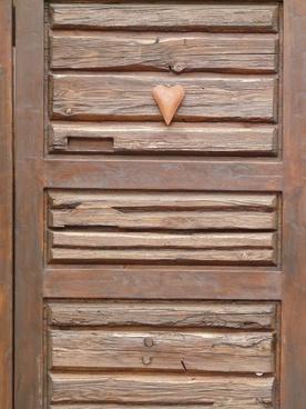 heart door wooden door
