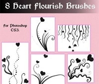 Heart Flourish Brushes for CS3