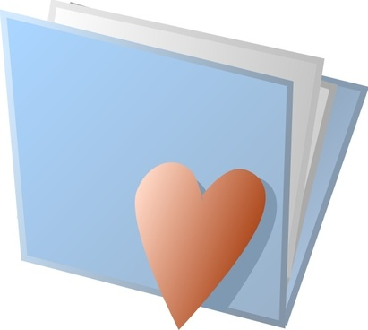 Heart Folder clip art