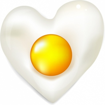 Heart fried egg