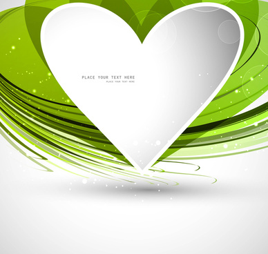 heart green colorful shape valentine day vector