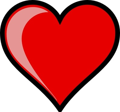 Heart Left-highlight clip art