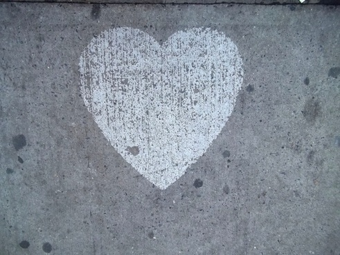 heart love sidewalk