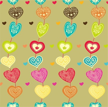 heart pattern design with seamless leaning style