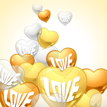heart shaped balloon design vector