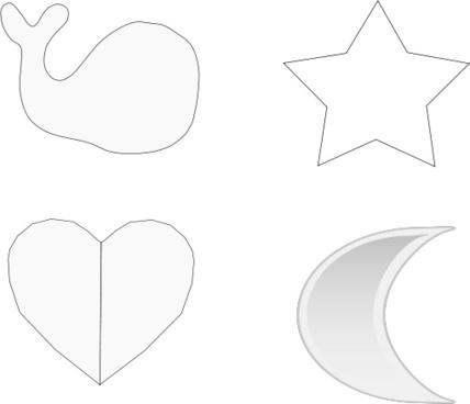 Heart silhouette