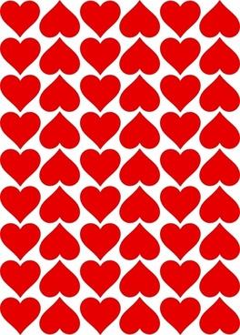 Heart Tiles clip art
