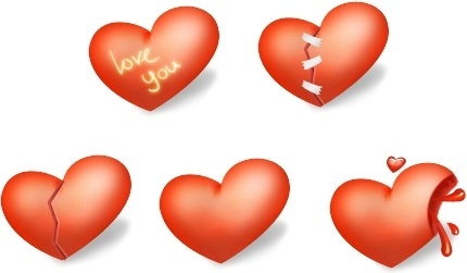 Heart Valentine Day icons pack