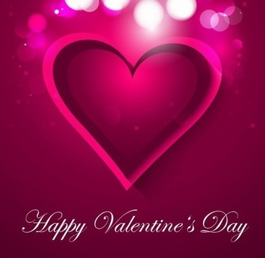 valentines card design violet heart decoration bokeh backdrop