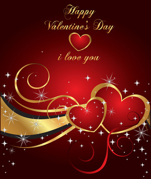 heart with star valentine day card vector