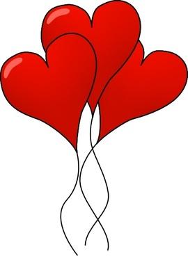 Heart-ballons clip art