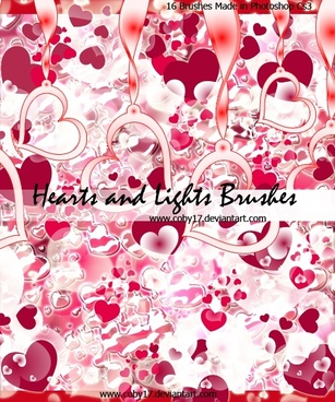Hearts and Lights Brushes