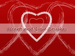 Hearts and Love Brushes
