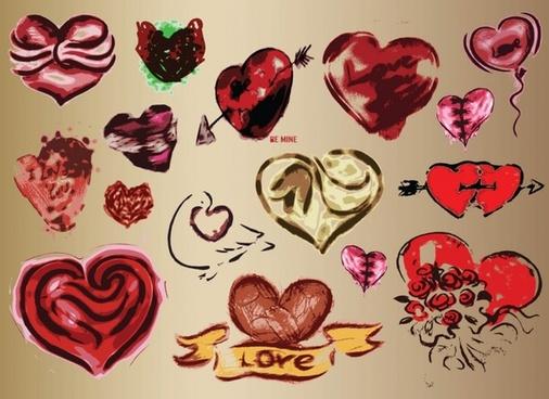 Hearts Vector Art Drawings