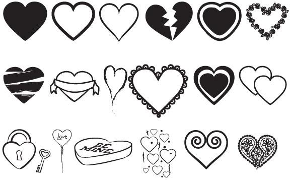 Hearts Vectors Mix