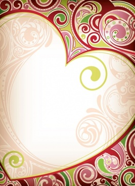heartshaped border 05 vector