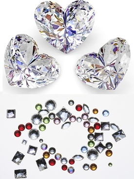 heartshaped bright diamond highdefinition picture