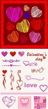heartshaped pattern vector