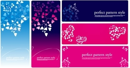 heartshaped pattern vector consisting of