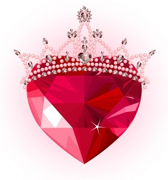 queen background crown ruby decor sparkling contemporary 3d