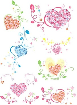 heartshaped ring pattern vector