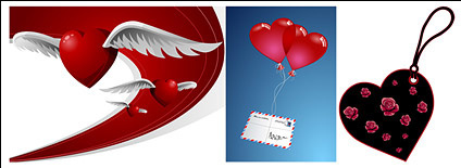 Heart-shaped theme of the vector material-2