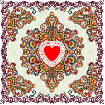heartshaped valentine39s day card 01 vector