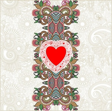 heartshaped valentine39s day card 03 vector