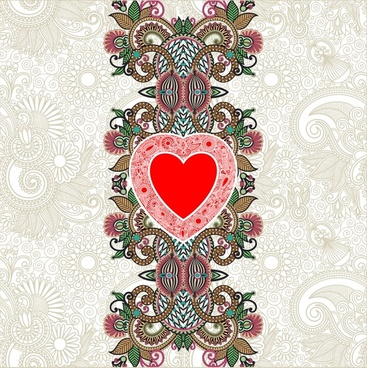 heartshaped valentine39s day card line art vector shading