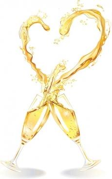 heartshaped vector 1 champagne