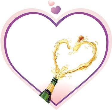 heartshaped vector 2 champagne