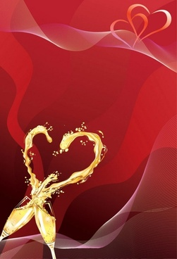 heartshaped vector 4 champagne