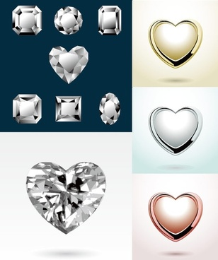 heartshaped vector diamond jewelry pendant