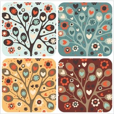 heartshaped vector may be trees