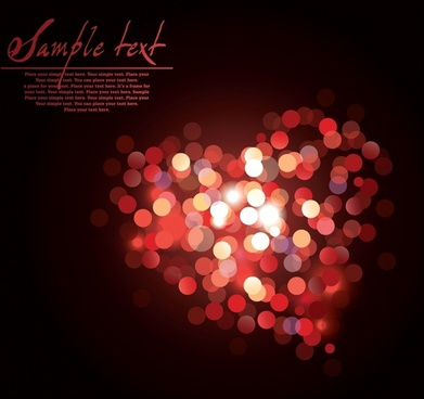 romance background bokeh lights decor heart layout