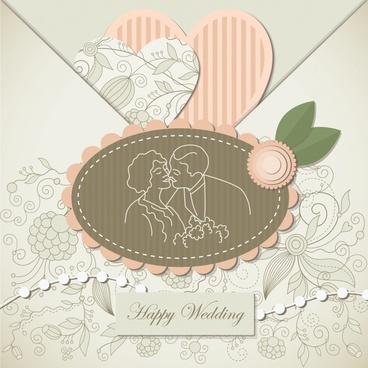 heartshaped vector wedding wedding labels